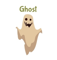 Scary ghost halloween costume idea vector