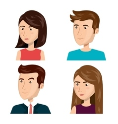 People persons thinking icon vector