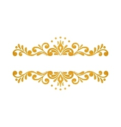 Elegant luxury vintage gold floral border vector