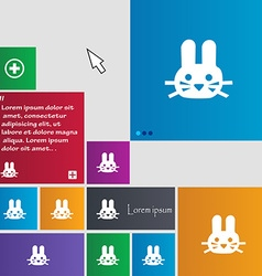 Rabbit icon sign buttons modern interface website vector