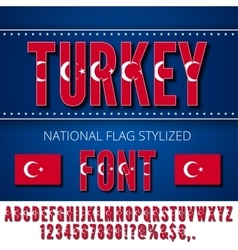 National flag font vector