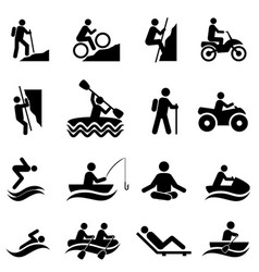 leisure and recreational activities icons vector image