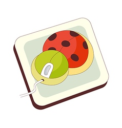 A view of mouse pad vector image
