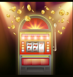Retro slot machine vector