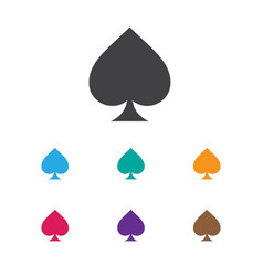 Of game symbol on spades icon vector