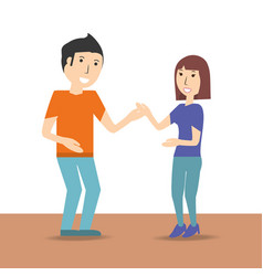 Happy couple lover with romantic relationship vector