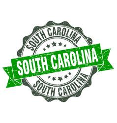 South carolina round ribbon seal vector
