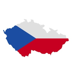 Map and flag of Czech Republic vector image