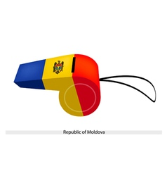 A whistle of the republic of moldova vector