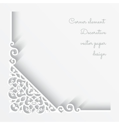 Paper corner background vector image