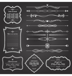Vintage frame and divider set vector