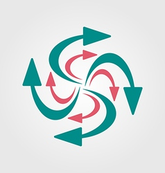 Swirling arrows icon vector