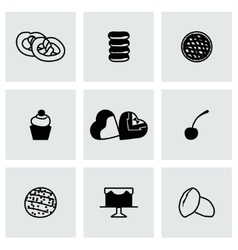 Fresh bakery icon set vector