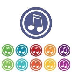 Music signs colored set 2 vector