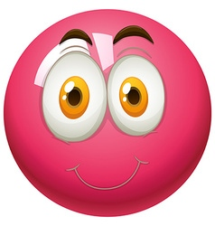 Happy face on pink ball vector