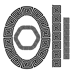 Set of Greek Ornamenal Frames vector image