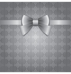 silver bow vector image