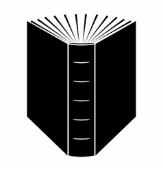 The end of open book black simple icon vector