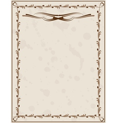 old paper background with ornament vector image
