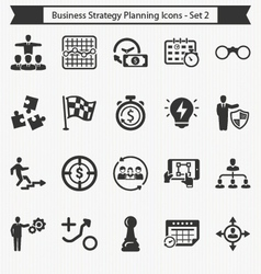 Business strategy planning icons - set 2 vector