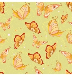 Pattern of butterflies vector
