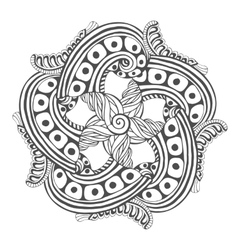Mandala for coloring book pages ornament vector