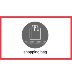 Shopping bag contour outline vector