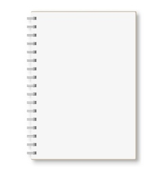 Notebook on a white background vector