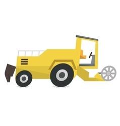 Modern combine harvester vector