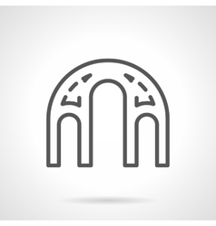 Architectural elements black line icon vector