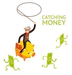 Catching money concept vector