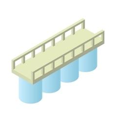 Concrete bridge icon cartoon style vector