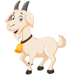 Cute cartoon goat vector image