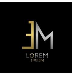 Em letters logo vector