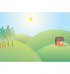 field nature vector image