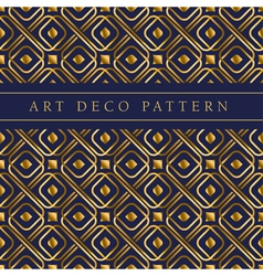Gold square shape seamless pattern in ar deco vector