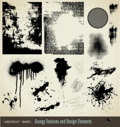 grungy textures and design element vector image vector image