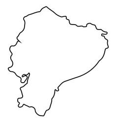 Isolated ecuador map vector