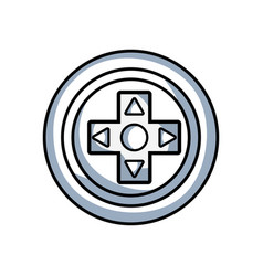 line videogame symbol to play and videogame vector image vector image