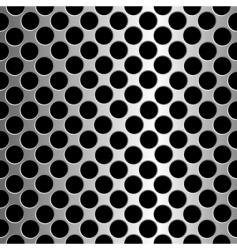 metallic circles vector image