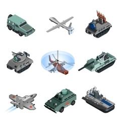 Military equipment isometric vector