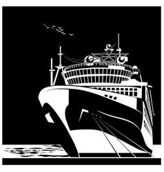 ocean liner vector image vector image