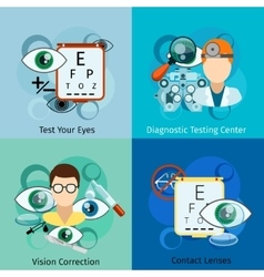 Ophthalmology concepts vector image vector image