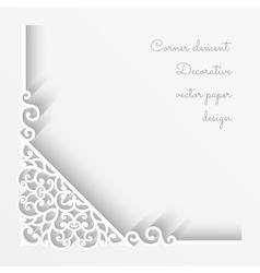 Paper corner background vector