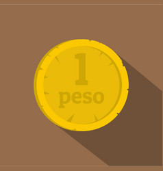 Peso icon flat style vector