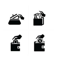 Put down money icon vector