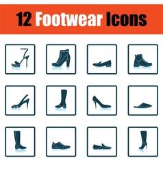 Set of footwear icons vector