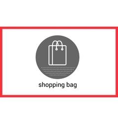 Shopping bag contour outline vector image