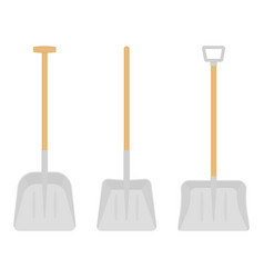 Snow shovels isolated vector