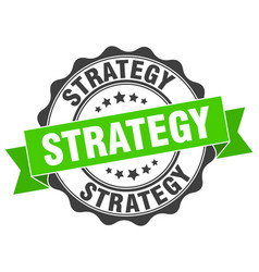 Strategy stamp sign seal vector